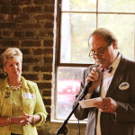 Steve Connelly – Attorney at Law and Mayor of Berea, KY speaks during Alison Lundergan Grimes' campaign party at Churchill's in Berea, KY
